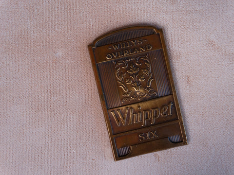 Willys Overland Whippet Six Radiator Badge A2453