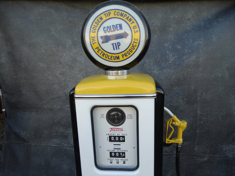 "Original 1940s Tokheim 39 Model Gas Pump restored for Netflix Production of ""Hollywood"""
