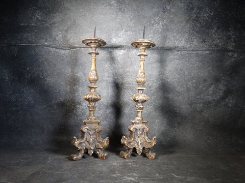 Pair of Rare Spanish Revival Candlesticks A2545