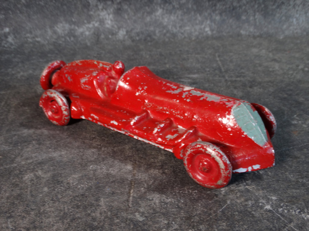E.R. Roach Industries Sand-Cast Aluminum Race Car Painted Red circa 1945 A2573