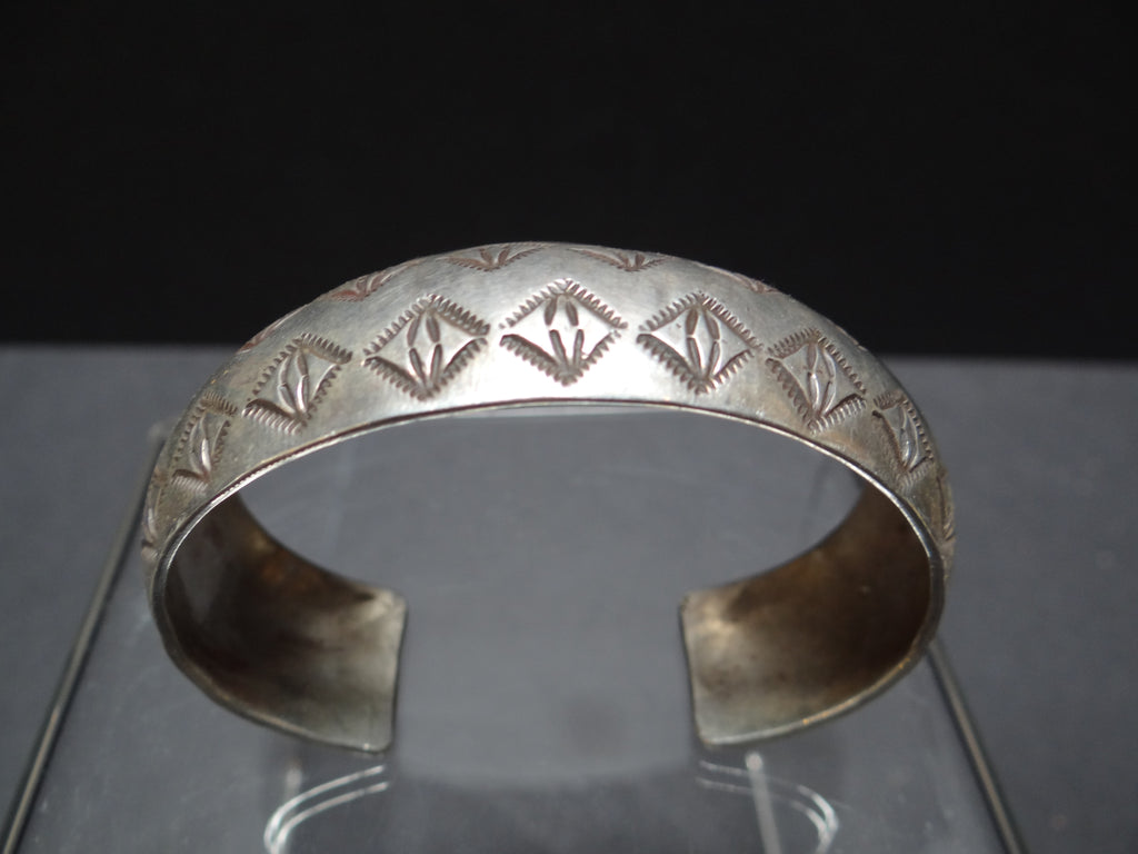 Navajo Silver Cuff Marked LVD