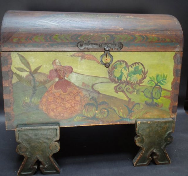 Folk Art Trunk (hand-painted)