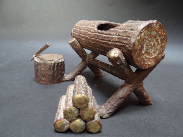 Arts & Crafts Miniature Log Desk