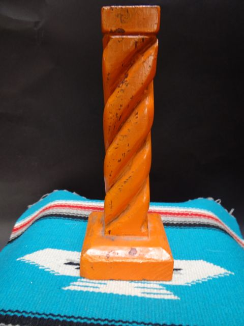 Taos Hand Carved Painted Candle Stick