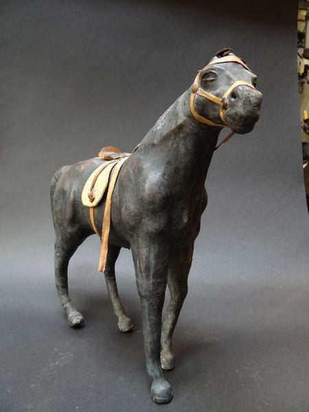 Mexican Molded Leather Horse 1920s to 1930s