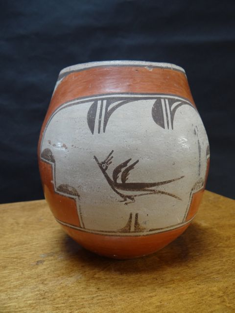 Zia Pottery Olla with Zia Bird