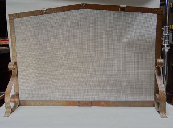 Arts and Crafts Hand Hammered Copper Fireplace Screen