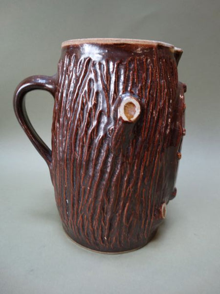 "19th Century Rustic Tree Trunk and Horse Shoe ""Good Luck"" Pitcher"