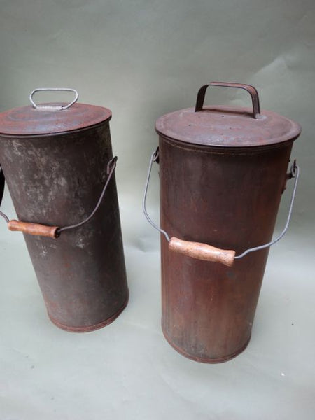 Pair of Decorative Tin Cans