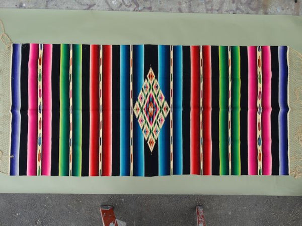 "Mexican Serape ""Black Rainbow"""