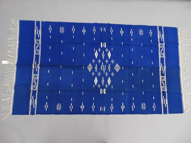 "Mexican ""New Mexican"" Saltillo Textile ""Deep Blue"""