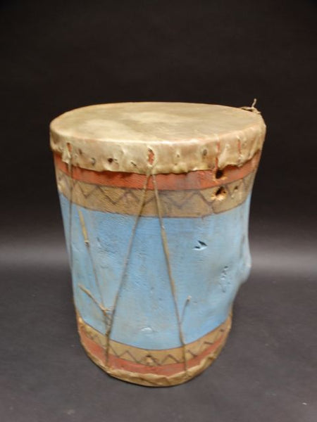 Pueblo Indian Light Blue Drum
