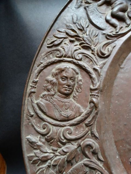 18th Century French Copper Wall Plate