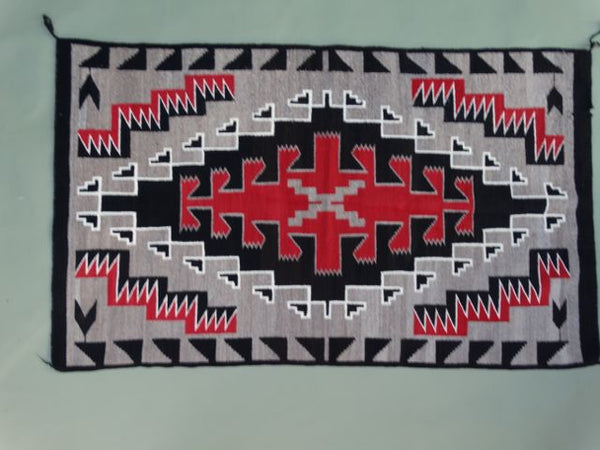Navajo Rug Red and Black