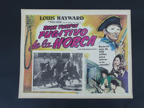 THE LADY AND THE BANDIT (Dick Turpin Fugitivo de la Horca) Lobby Card 1951