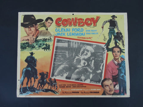 COWBOY 1958 Lobby Card for Mexican Market
