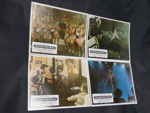 Hearts of the West 1975 (Joven Genio Busca Empleo) Spanish language 4 Lobby Cards