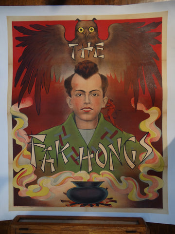 The Fak Hongs --  Original Magician poster With Wise Owl.