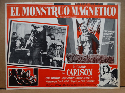 THE MAGNETIC MONSTER 1953 (El Monstruo Magnetico) Lobby Card
