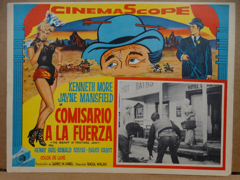 The Sheriff of Fractured Jaw 1958 (Comisario a La Fuerza) Lobby Cards