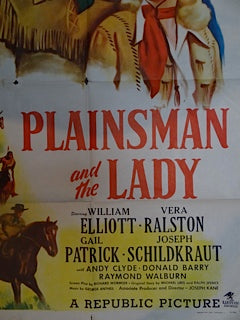 Movie Theatre Poster PLAINSMAN AND THE LADY