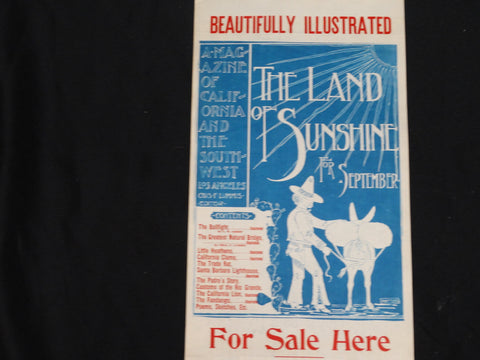 Land of Sunshine Poster: Man with Donkey