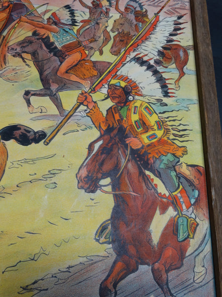 Vintage Tim McCoy's Real Wild West Poster - framed 1938