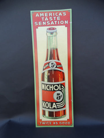 Vintage Nichol Cola Sign 1936-40