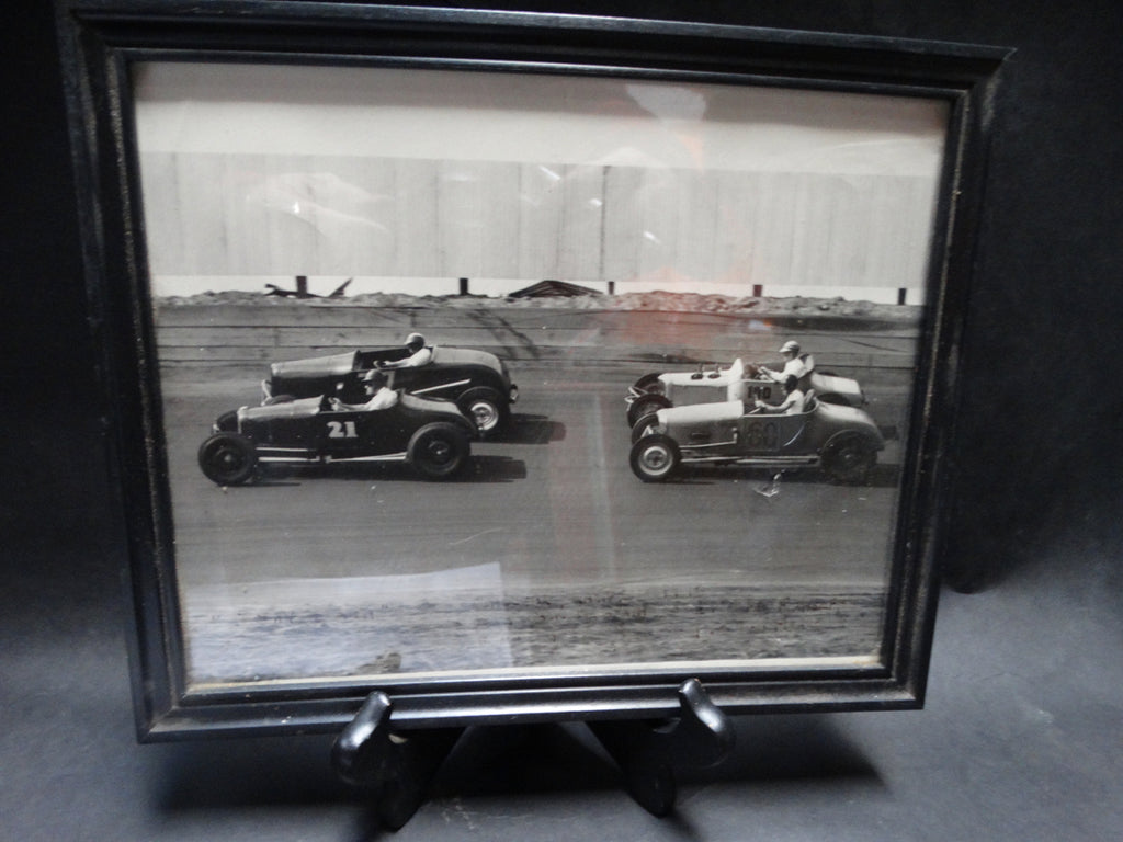 1940s Original Photograph of Highboy Racing