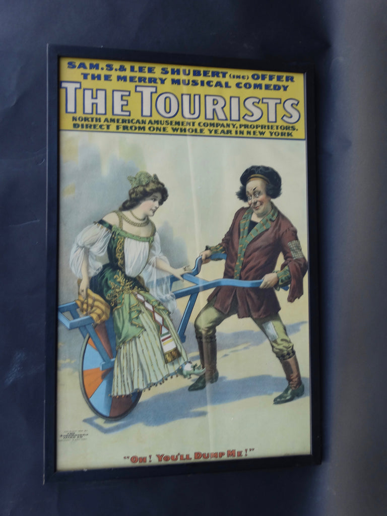 Vintage Theatrical Poster -The Tourists 1906
