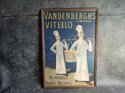 Vandenberghs Vitello Limited Margarine Advertising Poster c 1905