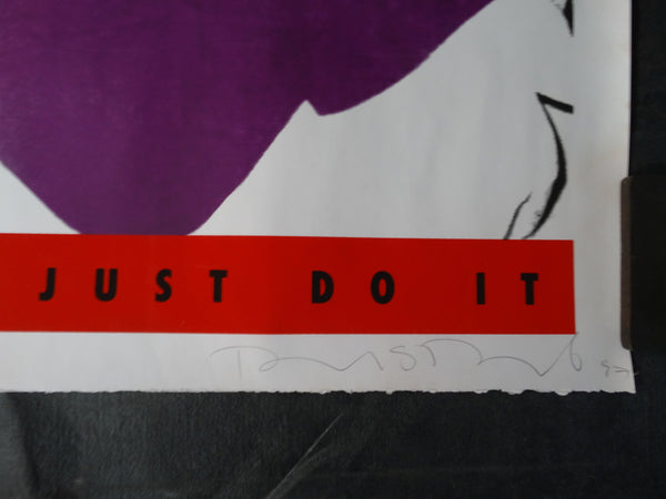 EXITING THE VEHICLE | JUST DO IT - a serigraph by Richard Duardo 1997 - AP1232