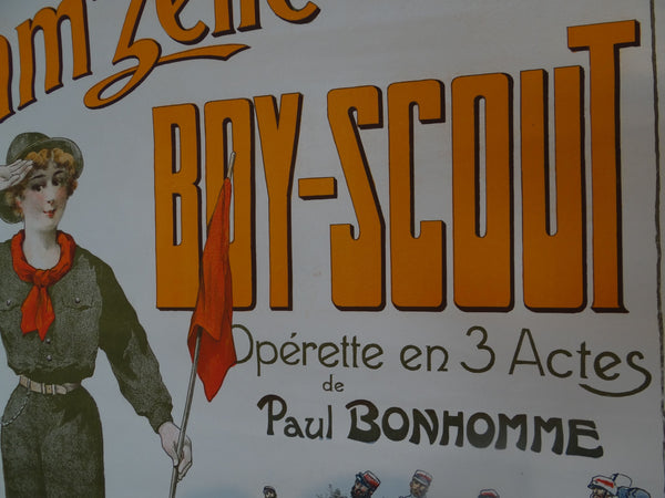 French Operetta Poster - MAM'ZELLE BOY-SCOUT