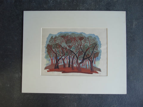Anders Aldrin - Sycamore Grove - Woodcut - circa 1940s AP1268