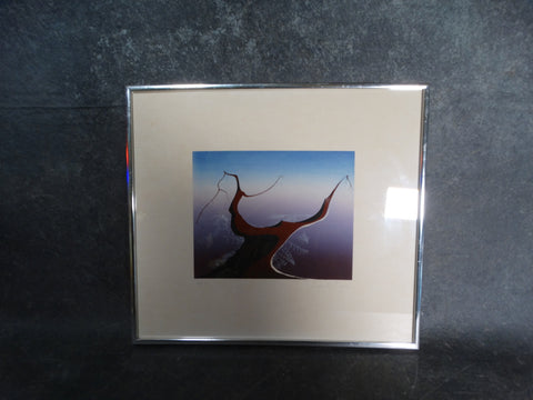 Eyvind Earle Serigraph Desert Tree 1974 AP1335                                                                     Ranch