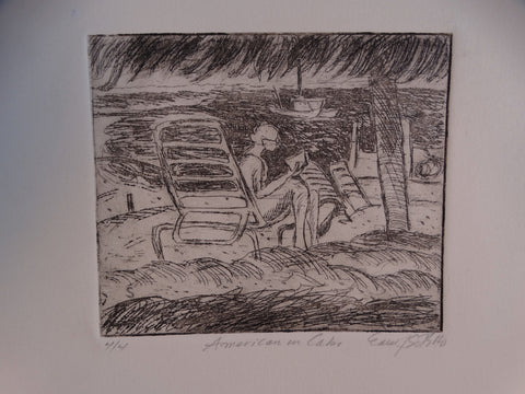 Edward Sotello - American in Cabo  -  Etching AP1337