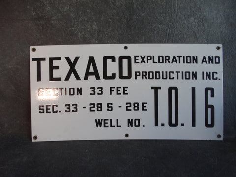 Texaco Oil Field Sign AP1341