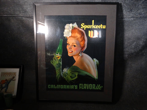 Sparkeeta Up Original Advertising Poster c1939 AP1351