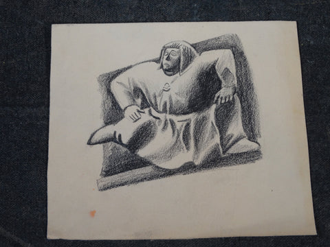 Alberto Beltrán Charcoal Drawing of... The Golem! AP1367