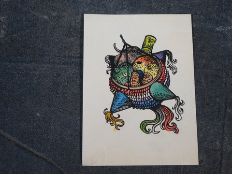 Alberto Beltrán - Color Block Print of a Crazy Piñata AP1378