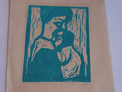 Marie Cofalka - Mother and Child - Block Print AP1402
