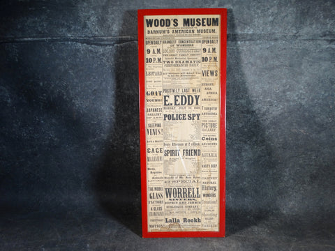 Wood's Museum Playbill Poster 1869 - AP1413