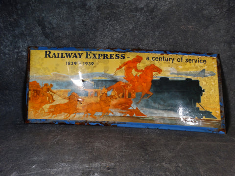Original Railway Express Metal Sign designed by Carl Burger AP1415