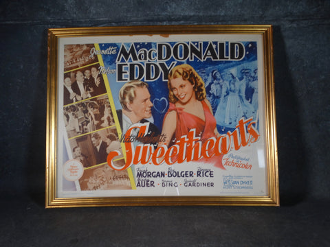 1962 reprint of 1938 Sweethearts Half-Sheet Poster AP1417