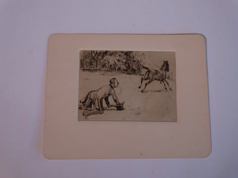 Thomas Hill McKay (1875-1941) The Runaway Horse - Etching AP1430