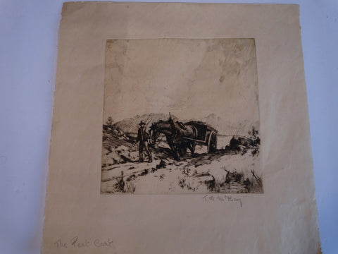 Thomas Hill McKay - The Peat Cart - Etching AP1435