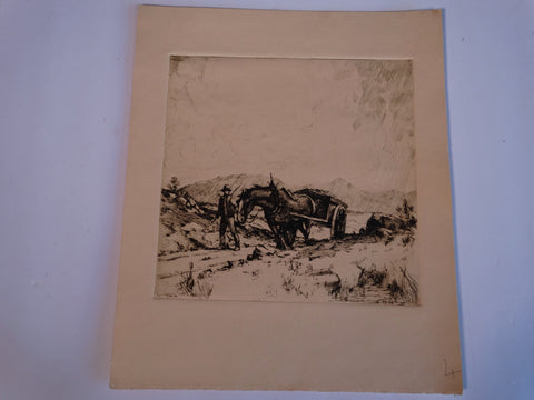 Thomas Hill McKay - The Peat Cart - Etching AP1436