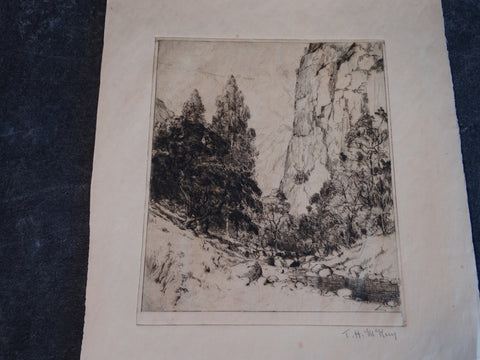 Thomas Hill McKay - Topanga Canyon - Etching 1929 AP1448