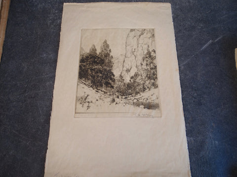 Thomas Hill McKay - Topanga Canyon - Etching 1929 AP1449