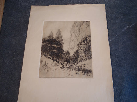 Thomas Hill McKay - Topanga Canyon - Etching 1929 AP1450